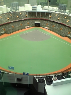 阪急西宮球場のジオラマ模型